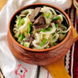 Sauerkraut, Potato and Mushroom Salad - Stock Photo