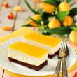 Stock Photo: Orange Quark Cake