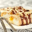 Crepes Filled with Orange Curd Cream - Foto Stock