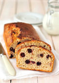 Berry and Oat Cake Loaf — Stock Photo