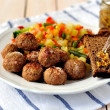 Pork Meatballs with Vegetables — Stock Photo