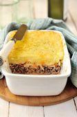 Potato, Sauerkraut and Meat Bake — Stock Photo
