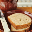 Slices of Rye Bread, copy space for your text — Stock Photo #33575043