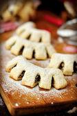 Cuddureddi, Sicilian Christmas Cookies, vintage effect — 图库照片