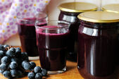Canned Grape Juice — Stock Photo
