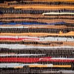 Handmade Cotton Rug Texture — Stock Photo