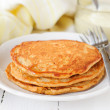 A Stack of Pumpkin Pancakes, copy space for your text — Stock Photo