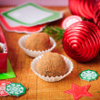 Christmas Chocolate Truffles in a Gift Box — Stock Photo #34744377
