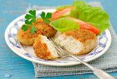 Baked Chicken and Zucchini Patties — Stock Photo