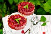 Raspberry dessert wine jelly — Stock Photo