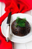 Christmas Pudding, copy space for your text — Stockfoto