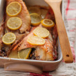 Rock Fish Baked with Lemon — Stock Photo
