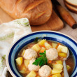 Vegetable Soup with Chicken Meatballs — Stock Photo #35549877