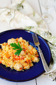 Rice with Chicken and Vegetables — Stock Photo