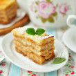 A Piece of Layered Apple Pie  — Stock Photo