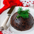 Christmas Pudding, copy space for your text — Stock Photo