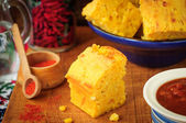 Pumpkin and Cornmeal Bread with Corn Kernels — Foto Stock