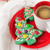 Kerstboom cookies — Stockfoto