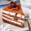 Chocolate, Quark and Prune Layer Cake — Stock Photo #37243957