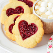 Homemade Cookies with Heart-Shaped Center — 图库照片