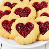 Homemade Cookies with Heart-Shaped Center — Stock Photo
