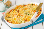 Macaroni, Pumpkin, Chicken and Cheese Pasta Bake — Stock Photo