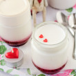 Natural Yoghurt with Raspberry Jam — Stock Photo #40405955