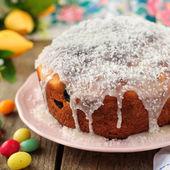 Kulitch (Kulich), Russian Easter Bread — 图库照片