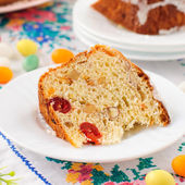 A Slice of Kulitch (Kulich), Russian Easter Sweet Bread — Stock Photo