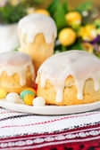 Kulitch (Kulich), Russian Easter Bread — Stock Photo