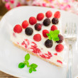 Постер, плакат: A Piece of No bake Raspberry Cheesecake