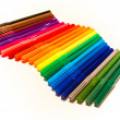 Color felt-tip pens on a white background - Stock Photo