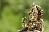 Close up of a hindu deity statue — Stock Photo