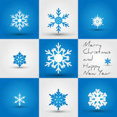 Snowflakes_square — Stock Vector