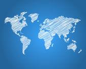 A la luz verdedünya haritası — Stok Vektör