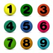 Number balls — Stock Vector