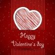 Royalty-Free Stock Obraz wektorowy: Red banned valentine card with scribbled heart