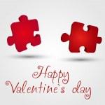 Valentine puzzles — Stock Vector