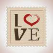 Stock Vector: Retro love stamp