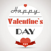 Happy valentinecard with hearts — Stock Vector
