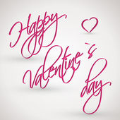 Pink happy valentines day card — Stock Vector