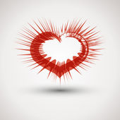Red spiky heart — Stockvector