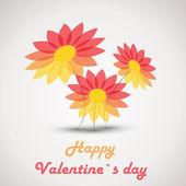 Retro valentine flowers — Stock Vector