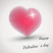 Pink retro disco heart — Stock Vector