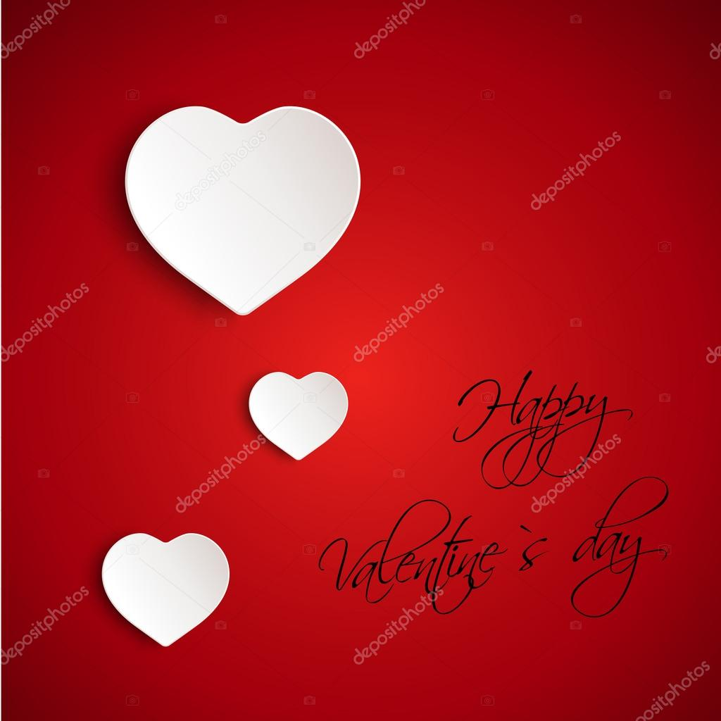 Red valentine 3D card. valentine concept.  — Stock Vector #19331943