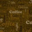Coffee text background — Stock Vector