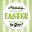 Royalty-Free Stock Vector Image: Green retro happy easter