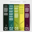 Stockvector : Column infographic five oblique options