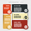 Stockvector : Rounded square presentation infographic