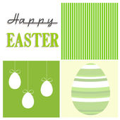 Green happy ester squares — Stock Vector
